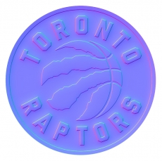 toronto raptors 2016-pres primary colorful embossed logo iron on transfer