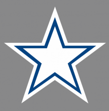 Star Royal blue Logo iron on transfer