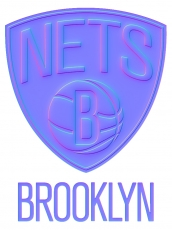 brooklyn nets 2013-pres primary colorful embossed logo iron on transfer