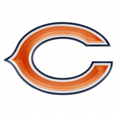 chicago bears crystal logo iron on sticker