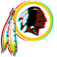 Phantom Washington Redskins logo decal sticker