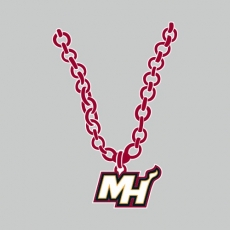 Miami Heat necklace logo decal sticker