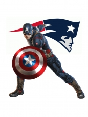 New England Patriots Captain America Logo iron on sticker