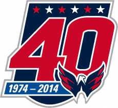 Washington Capitals 2014 15 Anniversary Logo decal sticker