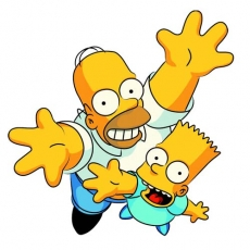 Bart and Homer decal sticker