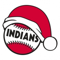 Cleveland Indians Baseball Christmas hat decal sticker