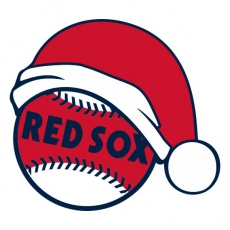 Boston Red Sox Baseball Christmas hat decal sticker