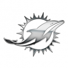 Miami Dolphins silver logo iron on transfer