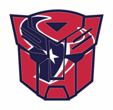 Autobots Houston Texans logo iron on transfer
