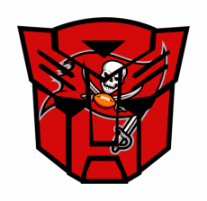 Autobots Tampa Bay Buccaneers logo iron on transfer