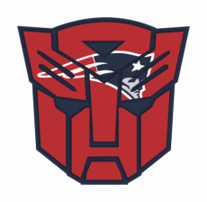 Autobots New England Patriots logo iron on transfer