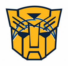 Autobots Los Angeles Chargers logo decal sticker