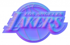 los angeles lakers 2002-pres primary colorful embossed logo iron on transfer