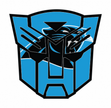 Autobots Carolina Panthers logo iron on transfer