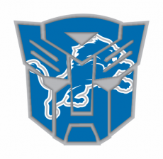 Autobots Detroit Lions logo decal sticker