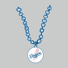 Los Angeles Dodgers necklace logo decal sticker