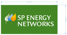 SP Energy Networks logo iron on transfer