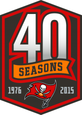 Tampa Bay Buccaneers 2015 Anniversary Logo iron on transfer