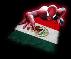 Spiderman MEXICO Flag decal sticker