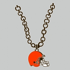 Cleveland Browns necklace logo iron on transfer