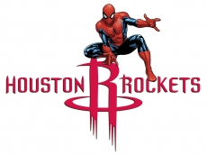 Houston Rockets Spider Man Logo decal sticker