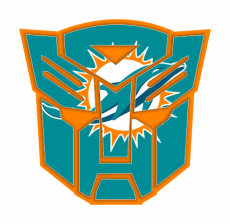 Autobots Miami Dolphins logo iron on transfer