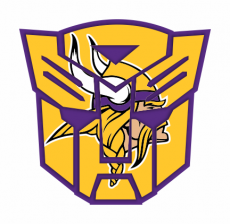 Autobots Minnesota Vikings logo iron on transfer