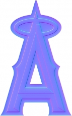 los angeles angels of anaheim colorful embossed logo iron on transfer