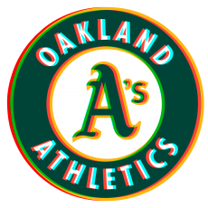 Phantom Oakland Athletics logo iron on transfer