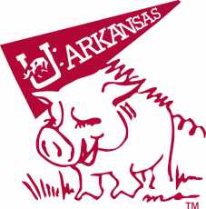 Arkansas Razorbacks 1969-1974 Mascot Logo decal sticker