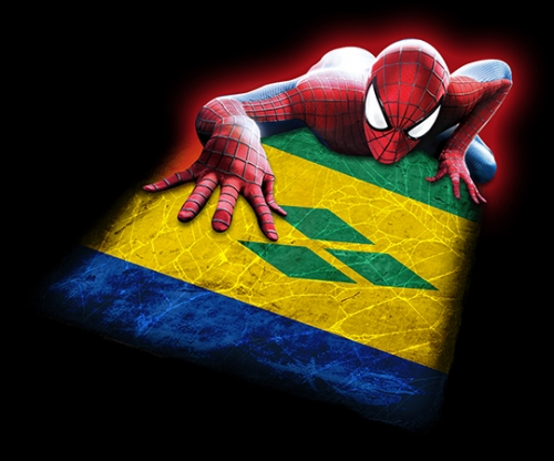 Spiderman SAINT VINCENT AND THE GRENADINES Flag iron on transfer
