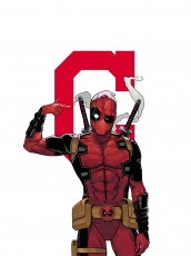 Cleveland Indians Deadpool Logo iron on sticker