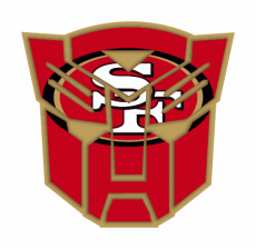 Autobots San Francisco 49ers logo decal sticker