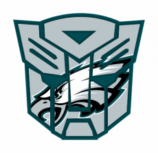 Autobots Philadelphia Eagles logo decal sticker
