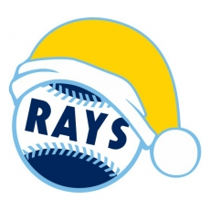 Tampa Bay Rays Baseball Christmas hat decal sticker