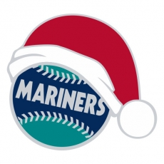 Seattle Mariners Baseball Christmas hat decal sticker