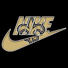 New Orleans Saints nike logo decal sticker