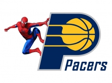 Indiana Pacers Spider Man Logo iron on sticker