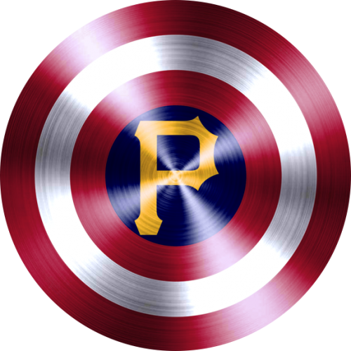 captain american shield with pittsburgh pirates logo iron on transfer