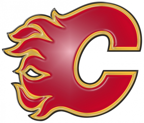 calgary flames 1995-pres primary plastic effect logo iron on transfer