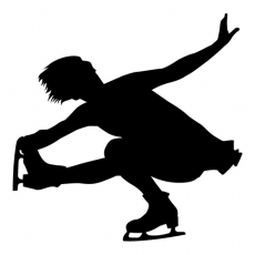 One leg Aerobic Womans Figure Skating