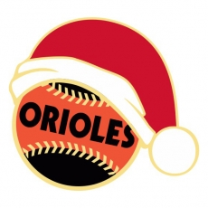 Baltimore Orioles Baseball Christmas hat decal sticker