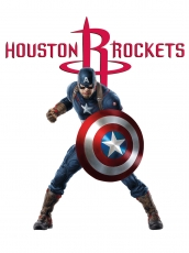 Houston Rockets Captain America Logo decal sticker