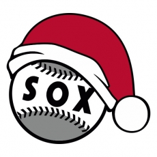 Chicago White Sox Baseball Christmas hat decal sticker