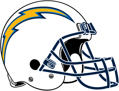 Los Angeles Chargers 2017-Pres Helmet decal sticker