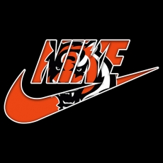 Cincinnati Bengals nike logo iron on sticker