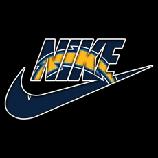 Los Angeles Chargers nike logo decal sticker