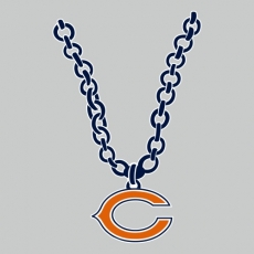 Chicago Bears necklace logo iron on transfer