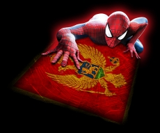 Spiderman MONTENEGRO Flag decal sticker