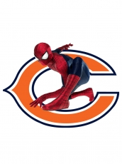 Chicago Bears Spider Man Logo iron on sticker